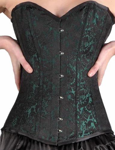 4e273d71b Sea Green Brocade Overbust Corset - Easto Garments