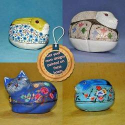 Paper Mache Animals Shaped Boxes - Rabbit Shape Box