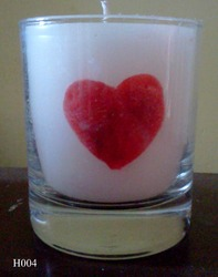 Heart Glass Wedding Candle H004