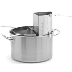 Stainless Steel Pasta Cooker - Casserole W/ 4 Pc. Separator, For Home