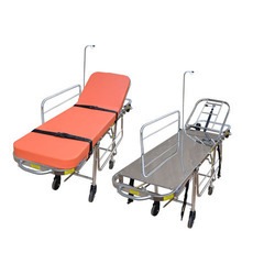 Stainless Steel Stretcher Cum Trolley