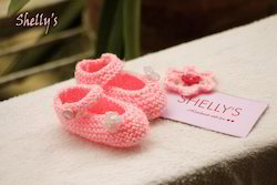 Hand Knit Booties (Newborn Size)