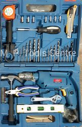 Drill Machine Impact With Hand Tools Kit In PVC Suitcase