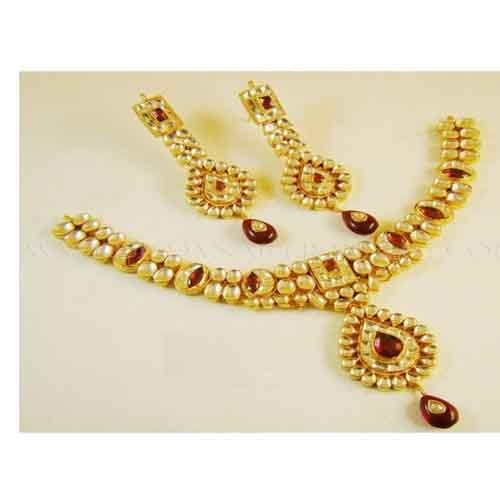 22k Gold Plated India Handmade Kundan Bollywood Jewelry Teenas