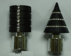 Stainless Steel Finish Round Pipe & Trishul Designer Finials