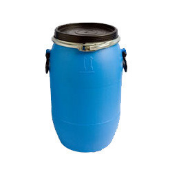 Black 30 Kg HDPE Open Mouth Drum, Capacity: 100-150 L