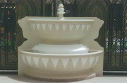 White GRC Fountain