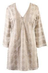 Gold Print Cotton Tunic