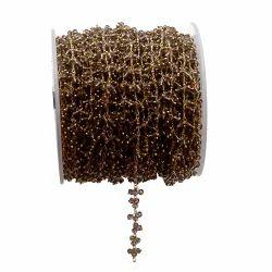 Smoky Quartz Gemstone Thick Chain