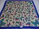 Pure Silk Butterfly Square Printed Scarves