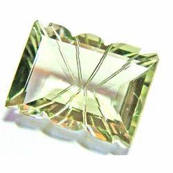 Laser Cut Green Amethyst Stone