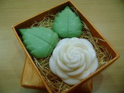 Pearl & Butter Flower Shape Soaps