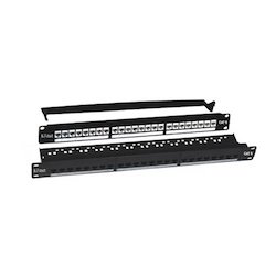 Cat 6 24 Port Patch Panel With Shutter