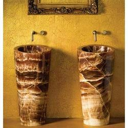 Stones Woods Metals Marble Pedestal Onyx Basins, for Bathroom