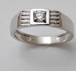 Single Stone CZ Diamond Ring
