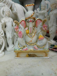 Marble Ganesh Idol with Turban