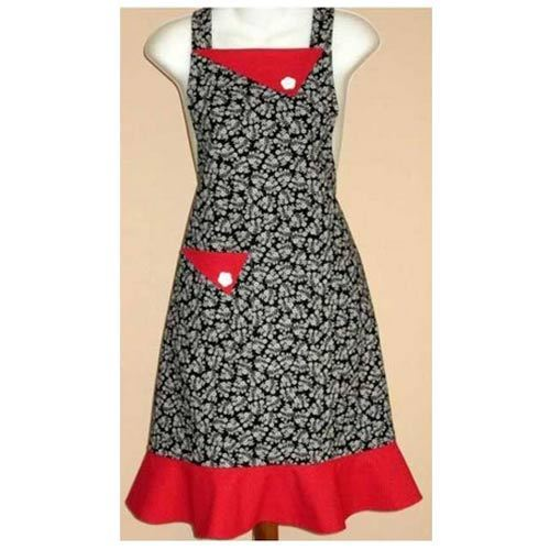 Red Striped Ladies Apron