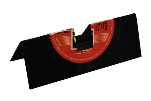 upcycled vinyl record visiting card display the upcycle project
