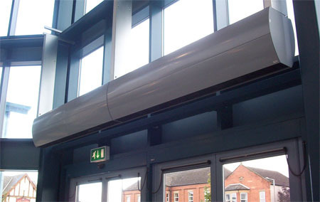 Stainless Steel Air Curtains for Malls