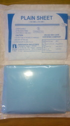 Blue Imported Material Plain Sheet, for Hospital
