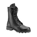 Black Leather Military Shoe