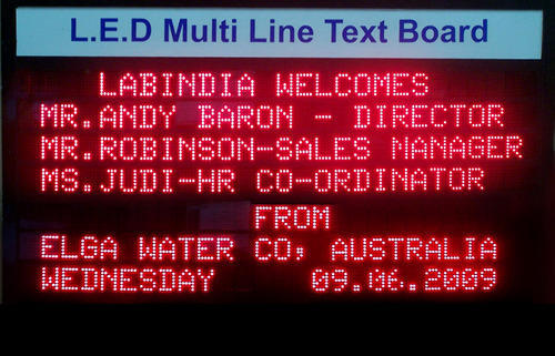 LED Multi Line Text Board