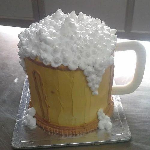 Sensational Beer Mug Cake 1 Kg Birthday Cakes In Bengaluru Miras Cake Art Funny Birthday Cards Online Elaedamsfinfo