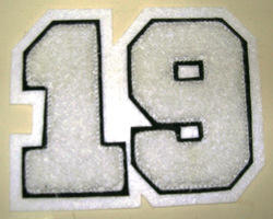 Chenille Number Patch
