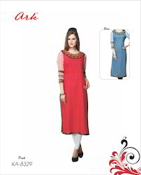 Long Cotton Kurti By Ark