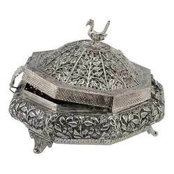 White Metal Handicrafts Jewellery Box