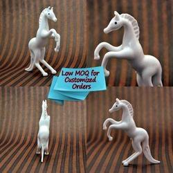 Painting Glossy Lamp Work Flame Working Glass Horse - Home, Size: 3.5 Inch