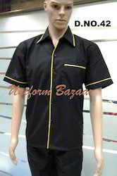 Restaurant Uniform In Black Colour