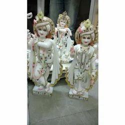 White Marble Statue of Radha Krishna