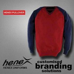 Henex Red And Blue Mens Pullover