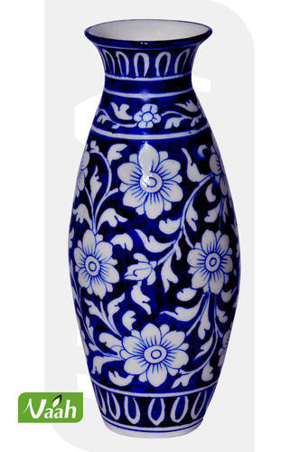 Vaah Blue Pottery Vase At Rs 600 Piece Pottery Vase Id 7428147388