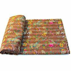 Brown Kantha Quilt