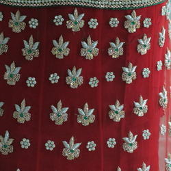 Designer Stone Work Bridal Saree