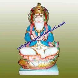 Marble God Jhulelal Statue