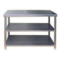 Polished Stainless Steel Utility Table