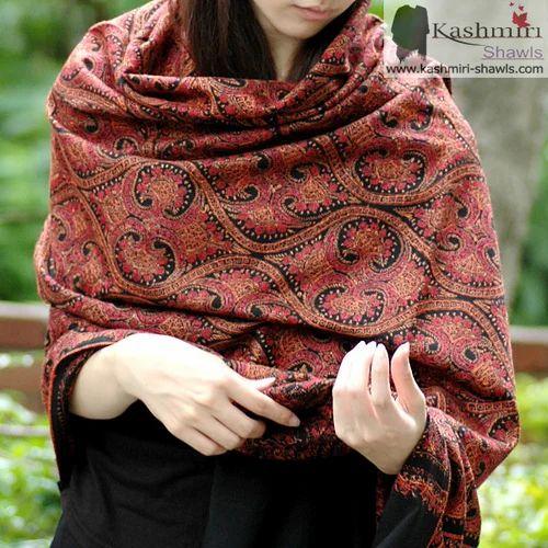 e9ab8f1ec Sozni Hand Embroidery- Pashmina Shawl - Kashmiri Shawls, Srinagar ...