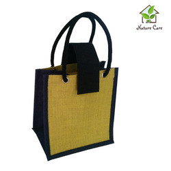 Jute Gift Bags Red Jute Gift Bag With Window Manufacturer From Kolkata