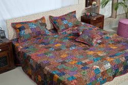 Silk Patchwork Bed Sheets