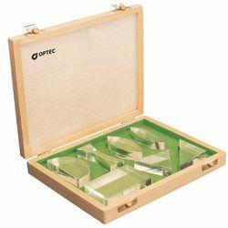 Optical Accessory Blocks Acrylic In Wooden Box