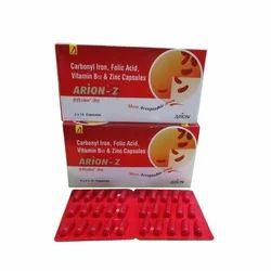 Carbonyl Iron, Folic Acid, Vitamin B12 & Zinc Capsules