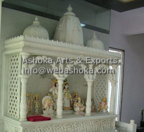 Carved Marble Puja Ghar - View Specifications & Details of Marble ...
