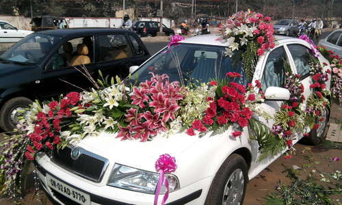 Car decorations car decoration services usha flower decorators car decorations junglespirit Choice Image