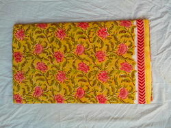 Hand Block Print Single Bedsheet