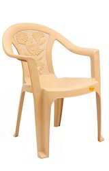 Four Flower Design Medium Back Plastic Chair