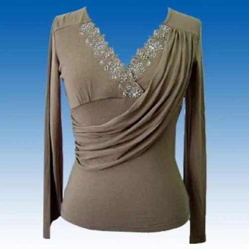 dd535da8f7902 Polyester   Cotton Designer Girls Top