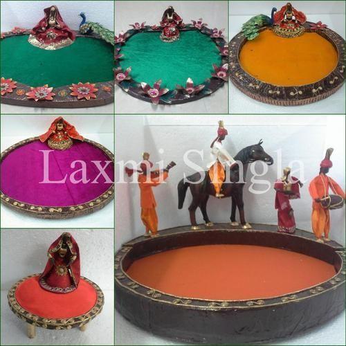Indian Wedding Theme Saree Packing Trays Paper Mache Theme Trays